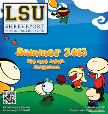 Summer 2013 Catalog - Continuing Education