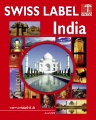 SWISS LABEL INDIA - XP - Com Consulting SA