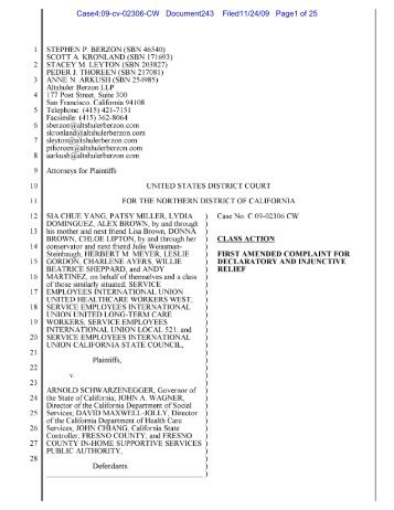 View amended complaint for declaratory ... - IHSS Coalition