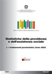 Statistiche della previdenza e dell'assistenza sociale - Inps