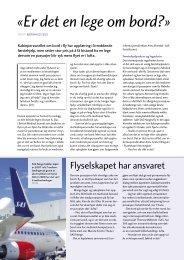 «Er det en lege om bord?» - Norges Astma- og Allergiforbund