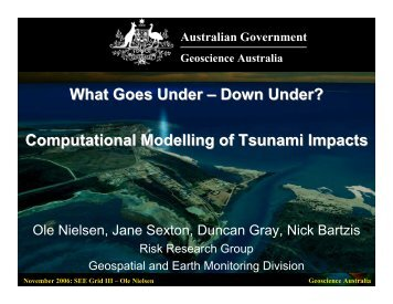 Computational Modelling of Tsunami Impacts - Seegrid.csiro.au