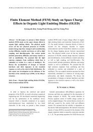 Finite Element Method (FEM) Study on Space Charge Effects ... - JSTS