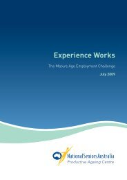 Experience Works: The Mature Age Employment Challenge