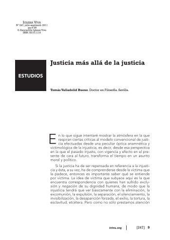 Justicia más allá de la justicia - Iglesia Viva