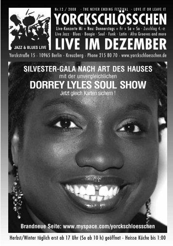 LIVE IM DEZEMBER - Yorckschlösschen
