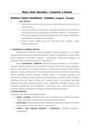 program praktyk - Wyższa Szkoła Komunikacji i Zarządzania