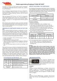 Bedienungsanleitung Empfänger R 6308 SB FASST