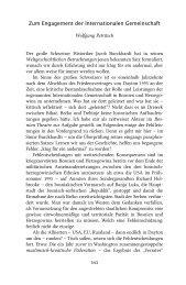 Zum Engagement der Internationalen Gemeinschaft - Wolfgang ...