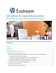 Interaktive Korrespondenzsysteme. White Paper zur ... - HP