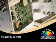 Frequency Sources Tour - Spectrum Microwave by API Technologies