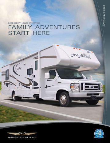 2008 Jayco Greyhawk Brochure PDF with Floorplans and Specs