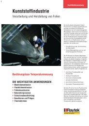 Kunststoffindustrie - Infrarot-Temperatur Messtechnik