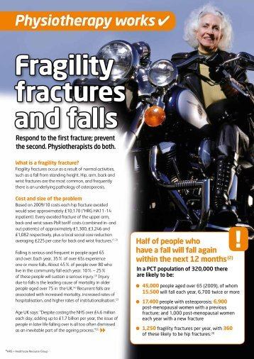 Fragility fractures and falls