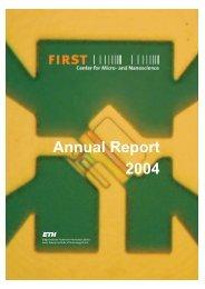 FIRST Jahresbericht 2004 - FIRST - ETH Zürich