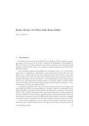 Enrico Fermi e la Fisica dello Stato Solido - Società Italiana di Fisica