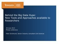 Behind the Big Data Hype: New Tools and ... - PhUSE Wiki