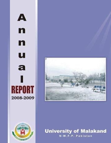 Annual Report 2008-2009 - University of Malakand
