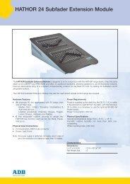 data sheet hathor 24... - ADB Lighting Technologies