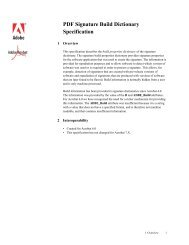 PDF Signature Build Dictionary Specification For ... - Adobe Partners