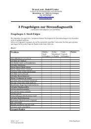 3 Fragebögen zur Stressdiagnostik - prosalus.info