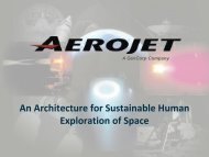 An Architecture for Sustainable Human Exploration of Space