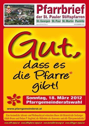 "PDF (2 MB) Pfarrblatt ""aktuell"" November 2011"