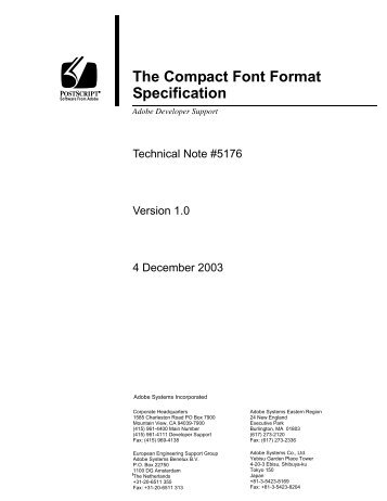 The Compact Font Format Specification - Adobe Partners