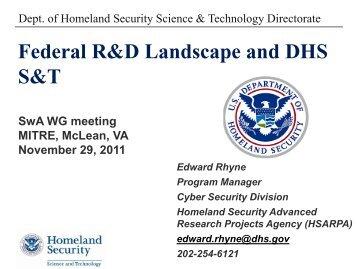 Edward Rhyne, DHS - Build Security In