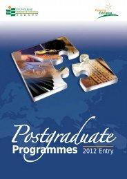 Postgraduate Programmes - 香港教育學院