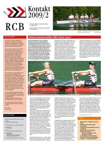 Ausgabe RCB KONTAKT 02/2009 - Ruderclub Baden