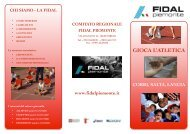 GIOCA L'ATLETICA - Fidal Piemonte