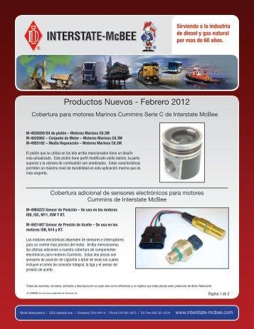 Productos Nuevos - Febrero 2012 - Interstate McBee