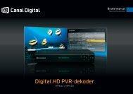 Brukermanual - Canal Digital Kabel-TV