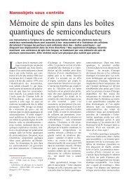 Mémoire de spin dans les boîtes quantiques de semiconducteurs