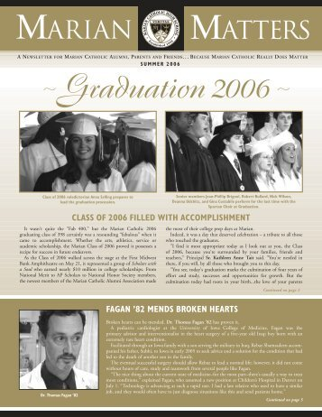 Graduation 2006~ - Marian Catholic High School