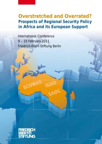 Prospects of regional security policy in Africa and its European support