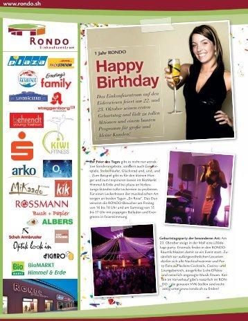 Happy Birthday - Rondo Einkaufszentrum
