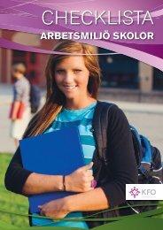Checklista arbetsmiljö skolor - Arbetsgivarföreningen KFO