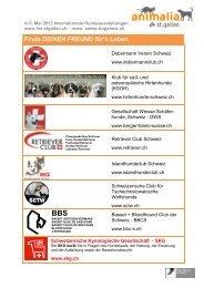 Liste der teilnehmenden Vereine und Clubs - Olma Messen St.Gallen