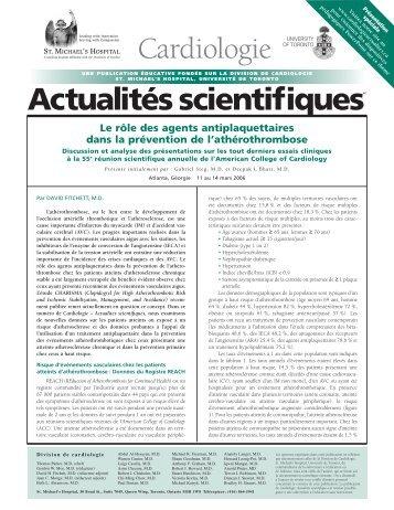 Le rôle des agents antiplaquettaires dans la prévention de l ...