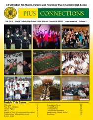 PIUS CONNECTIONS - Pius X Foundation Home - Pius X High School