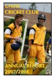 2007-08 - University of New South Wales Cricket Club