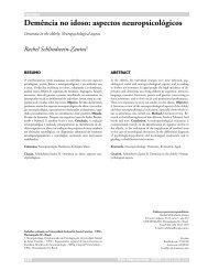 Demência no idoso: aspectos neuropsicológicos