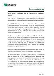 Pressemitteilung - BNP PARIBAS Real Estate Deutschland