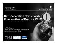 Next Generation CEO - London Communities of Practice (CoP)