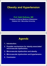 Obesity and Hypertension Agenda