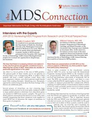 January 2013 - Aplastic Anemia & MDS International Foundation