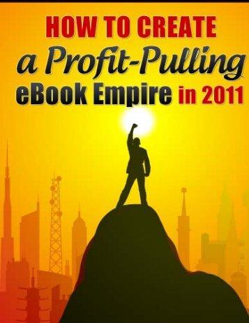 Creating a Profitable EBook Empire - Steve Scott