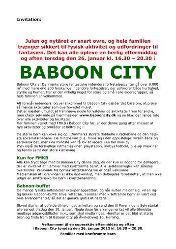 BABOON CITY - Familier med kræftramte børn